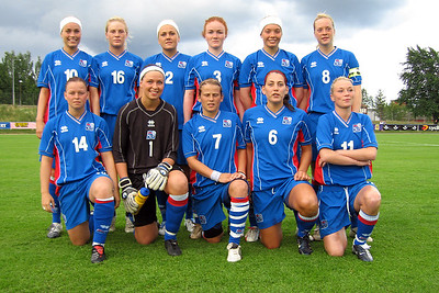 Eldri myndir af kvennalandsliðum (1981-2005)