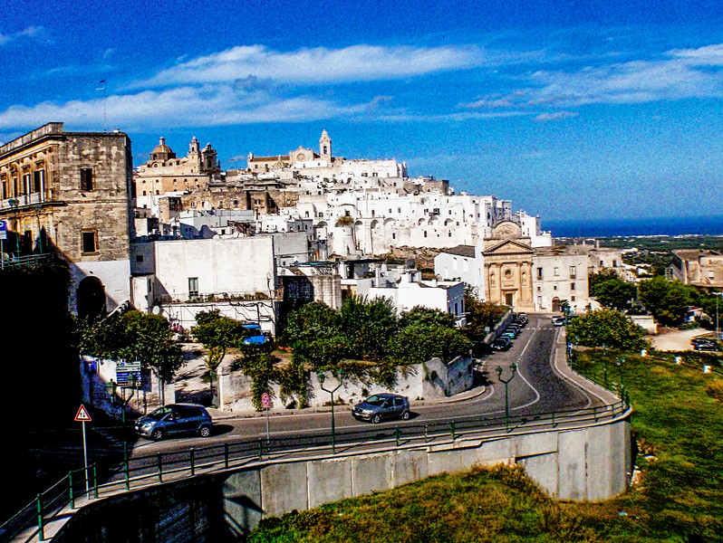 View of the Cathedral of Ostuni from the lower part of the town...Ostuni...La Città Bianca