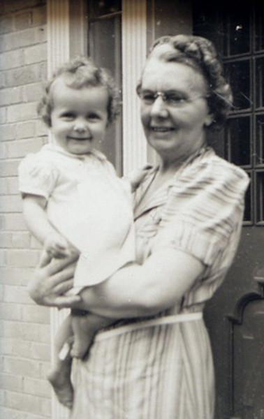 Taflyn Sale (1940-) and grandmother Dorothy Myles