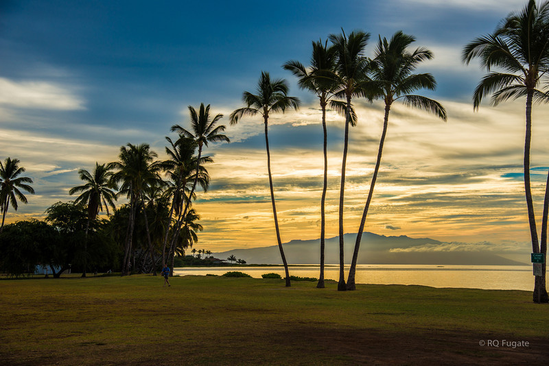 One Alii Park and Maui across the bay.