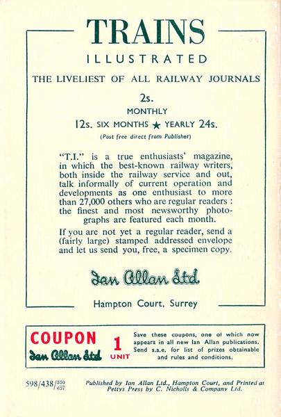 Autumn 1957 Locoshed Book.