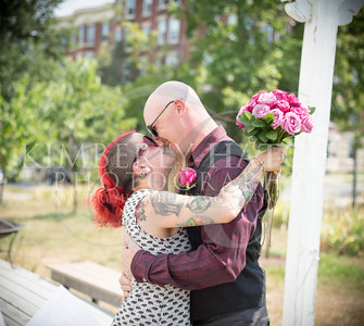 Ceremony- Rachael Frank & Hunter Allen Backyard Wedding- Holyoke, MA