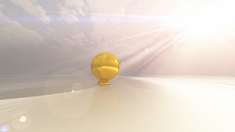 Gold Statue 4 : A Computer Generated Image from Daily Animation