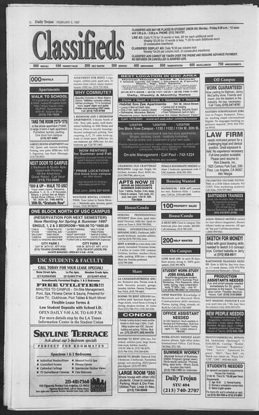Daily Trojan, Vol. 130, No. 18, February 05, 1997