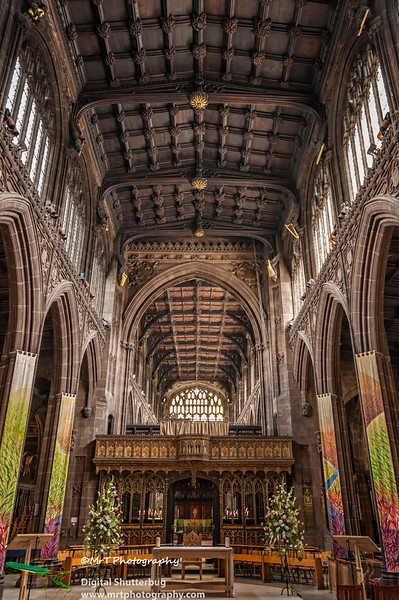The nave Manchester Cathedral Manchester UK