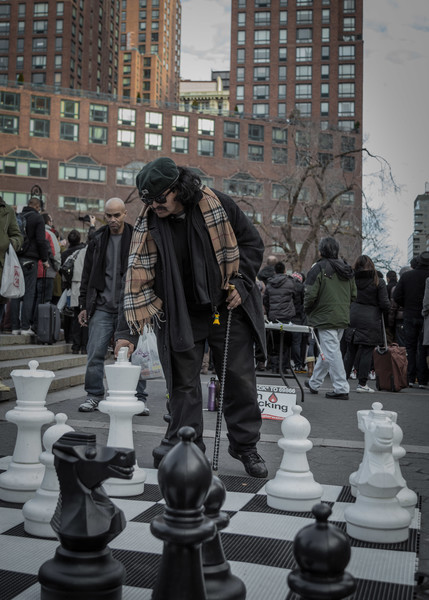 Running a large-scale chess match in Union Square, New York, NY.