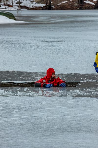 2-28-2021 Ice Rescue Drill, Spy Pond