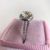 1.19ctw Old European Cut Diamond Halo Ring by A Jaffe 6