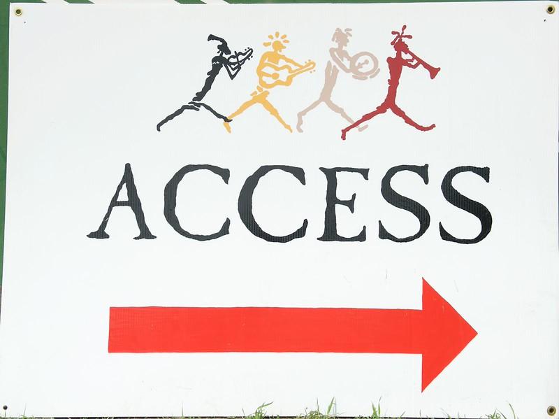 Access arrow R