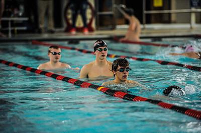 1-28-21 Bluffton Swim Team Senior Night vs Lima Senior