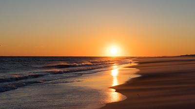 Robert Moses Windy Cold Beach Sunset Mar 2017