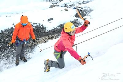 Ice Climbing with Noah