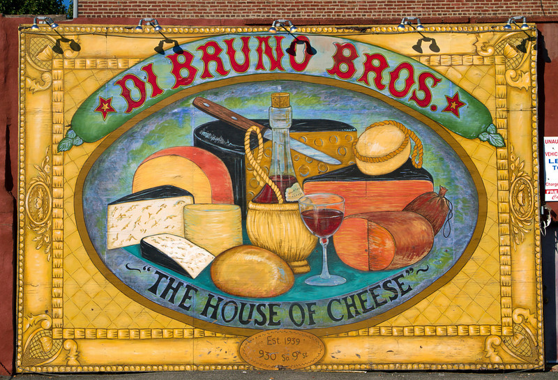 Wall painting for a cheese store