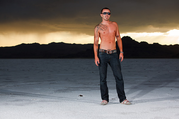 Rich Barton on the Bonneville Salt Flats