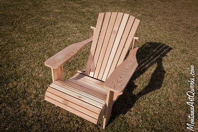 Montana Made: Solid Cedar Adirondack Chairs