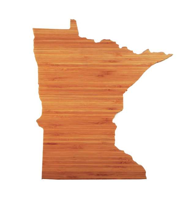 . Slice local artisan cheeses on these state-shaped cutting boards and then use them as a pretty serving platter. Minnesota and Wisconsin AHeirloom bamboo cutting boards ($48 each) at dailygrommet.com.