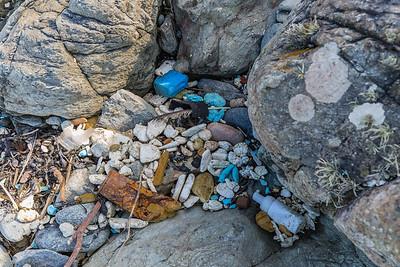 Pleinmont beach clean litter