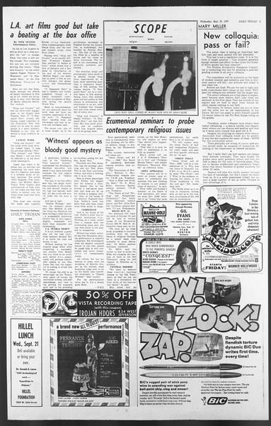 Daily Trojan, Vol. 58, No. 3, September 21, 1966