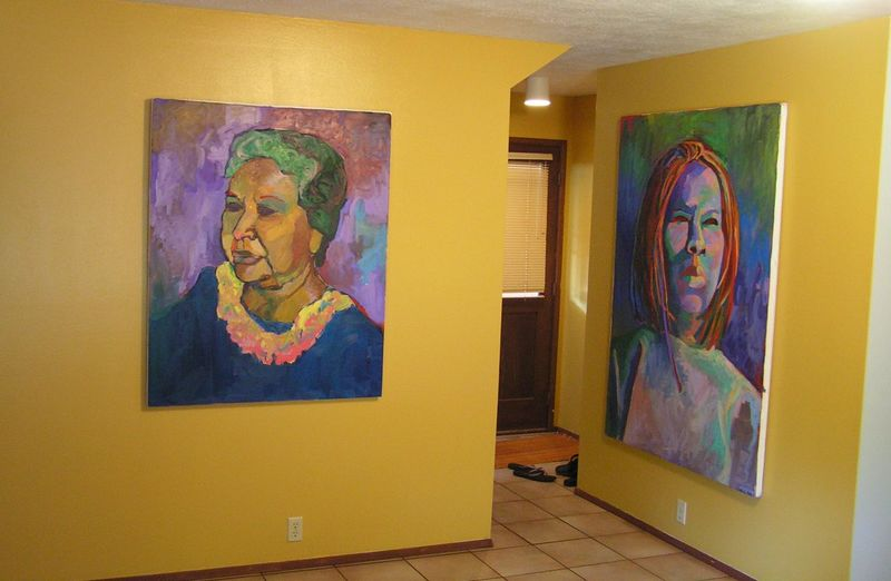 PICT3379s, Cameo's paintings, the house at Hanapepe, aug 20, 2005.JPG