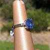 Vintage-Inspired and Contemporary 3.03ct Blue Sapphire Ring (GIA, No-Heat)) 23