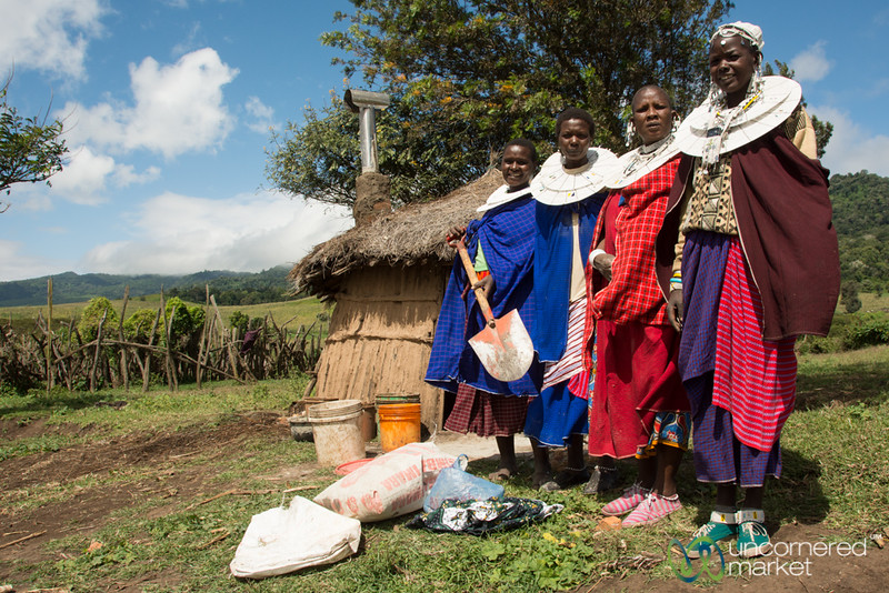 Maasai Women Clean Stoves Installation Team - Tanzania