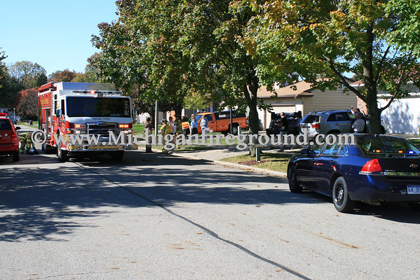 10/8/10 - Delhi Twp rollover injury accident, 4648 Lambeth Way
