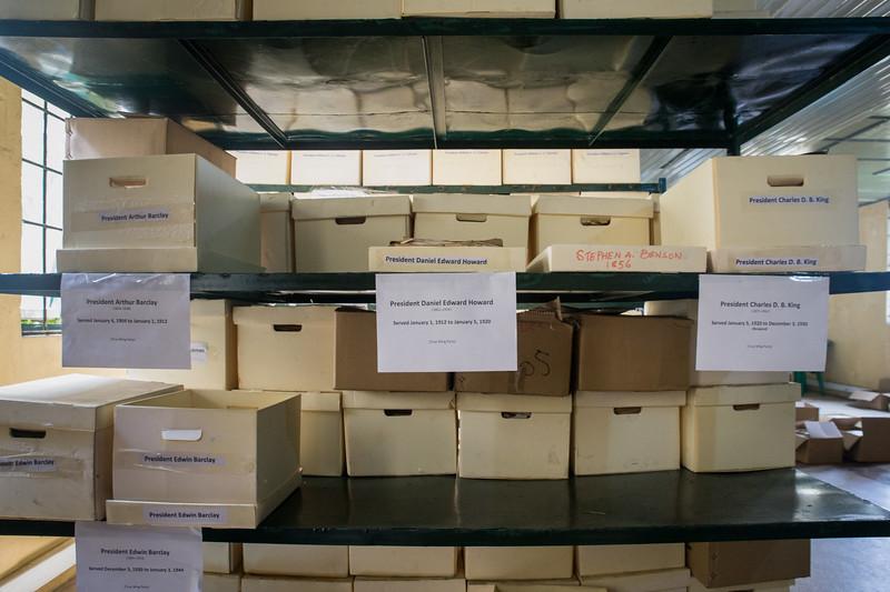 Monrovia, Liberia October 05, 2017 - The Liberian National Archives.