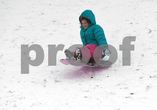 12/30/2017 Mike Orazzi | Staff Hannah Shea while sledding at Nelson's Field in Bristol Saturday.