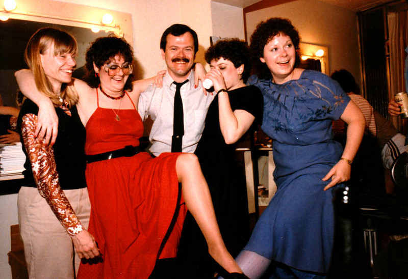 DOUG WITH KERA CUTIES Speaking of great experiences, there was no shortage of cute young things to party with during these pledge drives, as you can see here. This was taken during Gala Night, which is why everyone is so dressed up.