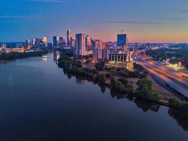 Austin Skyline from Riverside - Sun, May 14, 2017