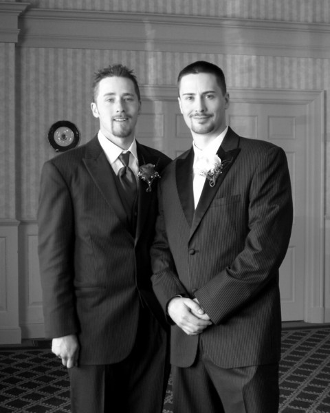 Brother bill and me at my wedding