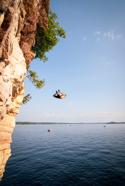 Cliff Jumping - Red Rocks Burlington VT