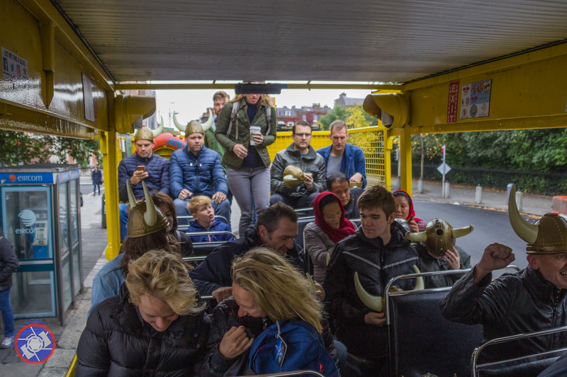 A Full Load of Temporary Vikings Aboard the Viking Splash DUKW (©simon@myeclecticimages.com)