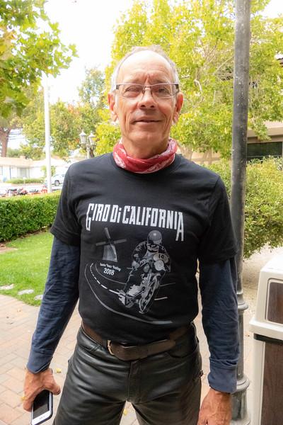Lester Townsend models the 2018 Giro shirt