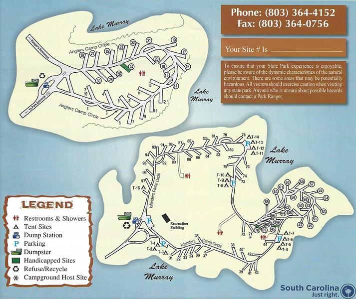 Dreher Island State Park (Campground Map)