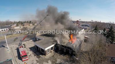 E 8 Mile and Binder Building Fire (Detroit, MI) 3/29/15