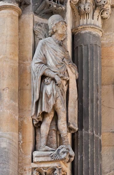 Freiberg, Dom. Goldene Pforte, Prophet Daniel
