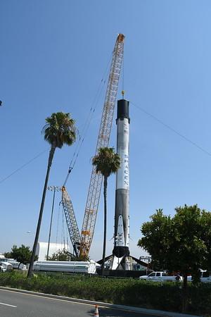 Spacex San Pedro Rocket return  july 2018