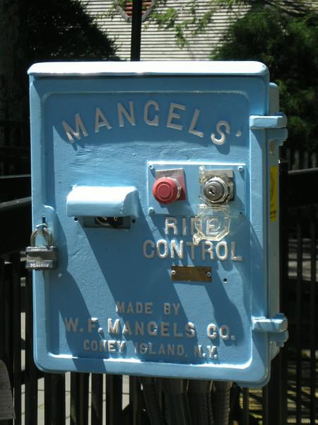 Mangels' ride control panel.