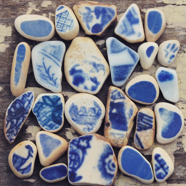 Vintage Beach Pottery Finds