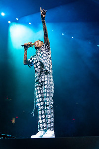 Post Malone show with Swae Lee and Tyla Jaweh at the Allstate Arena on February 11
