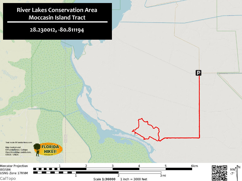 Moccasin Island Trail Map