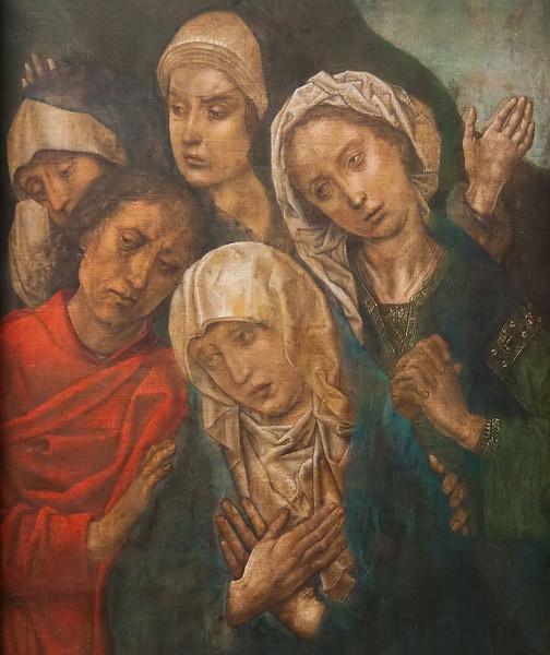 """Gelähmte Erschütterung (""""Die Beweinung Christi"""", Hugo van der Goes, um 1480, noch in Gemäldegalerie)"""