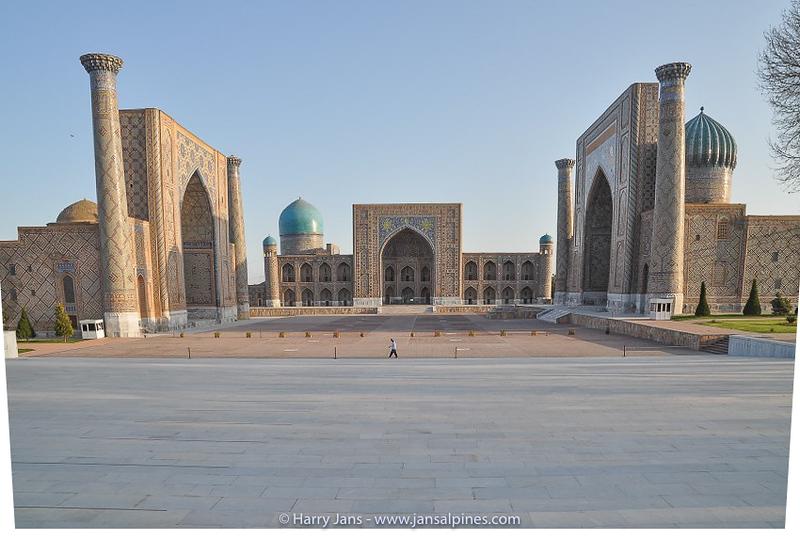 Rgistan (l-r): Ulugh Bek Madrasah, Tilya-Kori Madrasah & Sher-Dor Madrasah