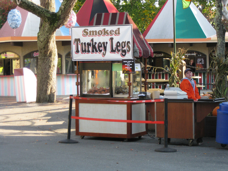 There was a smoked turkey leg cart on the midway.