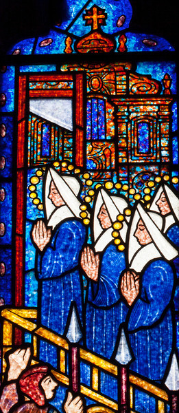 Etrapagny, Saint-Gervais-Saint-Protais Sainte Madeline Fontaine Window Praying Nuns