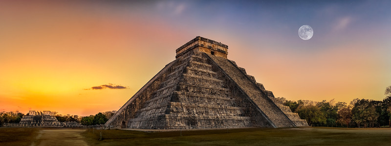 Chichen Itza during sunset