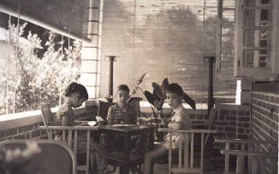 Isabel(Bélita) Américo Santos, Zé Manel Américo Santos e Jorge Vítor Santos.