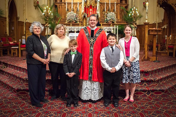 First Communion Ryan Bartley and Cody Justice  May 15 2016