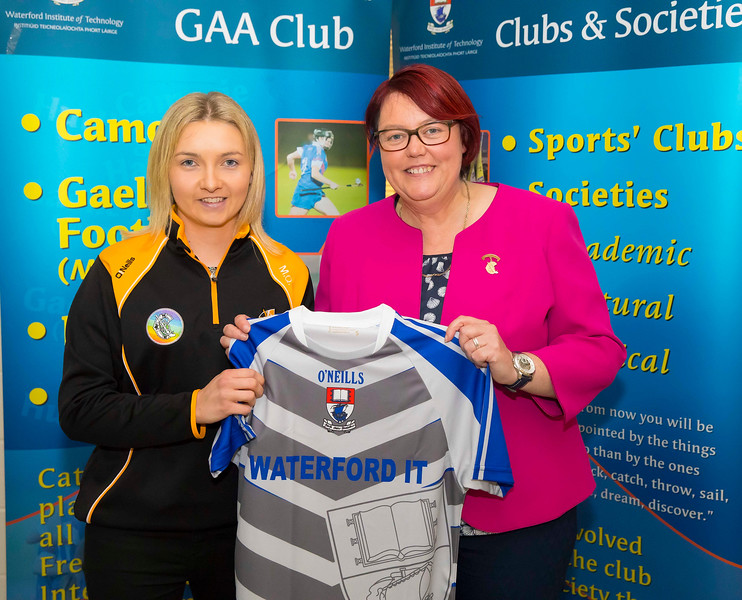 WIT holds event to honour 2016 All Ireland medal winning students. Pictured with the  President of the Camogie Association Catherine Neary is Michelle Quilty (capt) of the Kilkenny Senior Camogie Team. Picture: Patrick Browne  Waterford Institute of Technology's presence and influence across Gaelic Games at a national level in 2016 has been very noticeable. In total there are 32 past and present WIT students on the respective playing panels that won All Ireland medals in 2016 and a further 4 members on the backroom management teams.   To honour this huge achievement, WIT GAA Club is paying tribute to these 36 past members on securing these prestigious national titles on Monday 3 October, 6.30pm at the WIT Arena.   Along with the players, the prestigious cups, including the All Ireland Senior Hurling Cup- Liam McCarthy, the All Ireland Senior Camogie Cup- O'Duffy, The All Ireland Minor Cup and the All Ireland Under 21 Hurling Cup- James Nowlan, will be on show on the night.